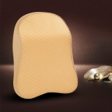 Four Seasons Breathable Memory Foam Car Neck Pillow Polyester Headrest (Beige)