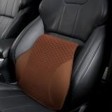 Four Seasons Breathable Memory Foam Car Lumbar Pillow Polyester Pillow (Coffee)