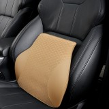 Four Seasons Breathable Memory Foam Car Lumbar Pillow Polyester Pillow (Beige)