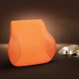 Four Seasons Breathable Memory Foam Car Lumbar Pillow Polyester Pillow (Yellow)
