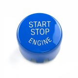 Car Engine Start Key Push Button Cover for BMW G / F Chassis, with Start and Stop (Blue)