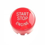 Car Engine Start Key Push Button Cover for BMW G / F Chassis, with Start and Stop (Red)