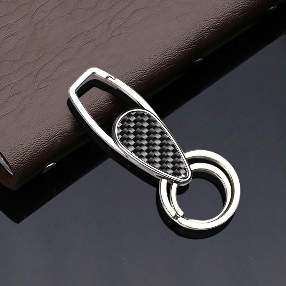 Car Carbon Fiber Key Ring Bright Style Keychain