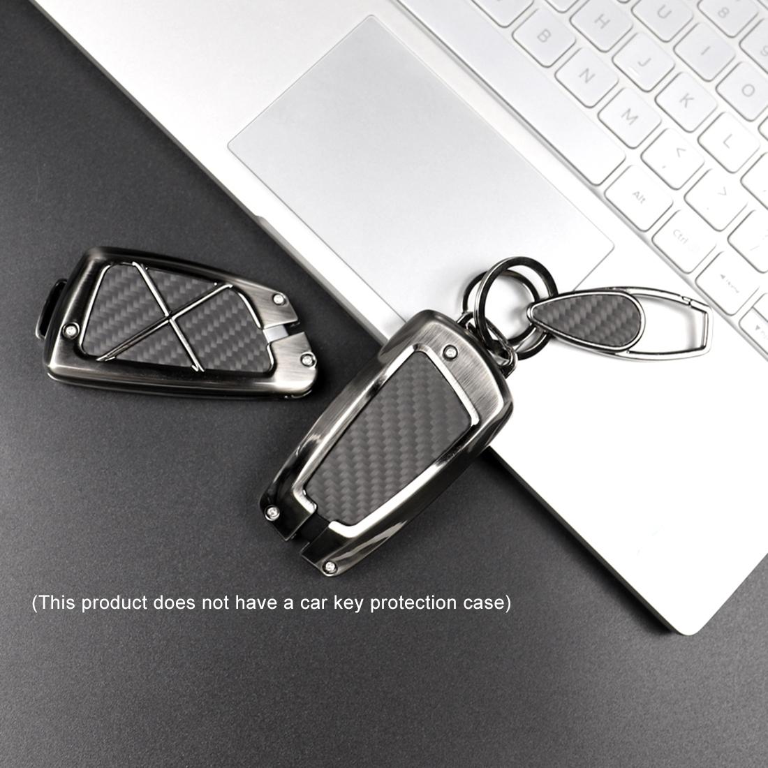 Car Carbon Fiber Key Ring Matte Style Keychain