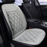 Car 12V Seat Heater Cushion Warmer Cover Winter Heated Warm, Single Seat (Grey)