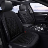 Car 12V Seat Heater Cushion Warmer Cover Winter Heated Warm, Double Seat (Black)