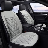 Car 12V Seat Heater Cushion Warmer Cover Winter Heated Warm, Double Seat (Grey)