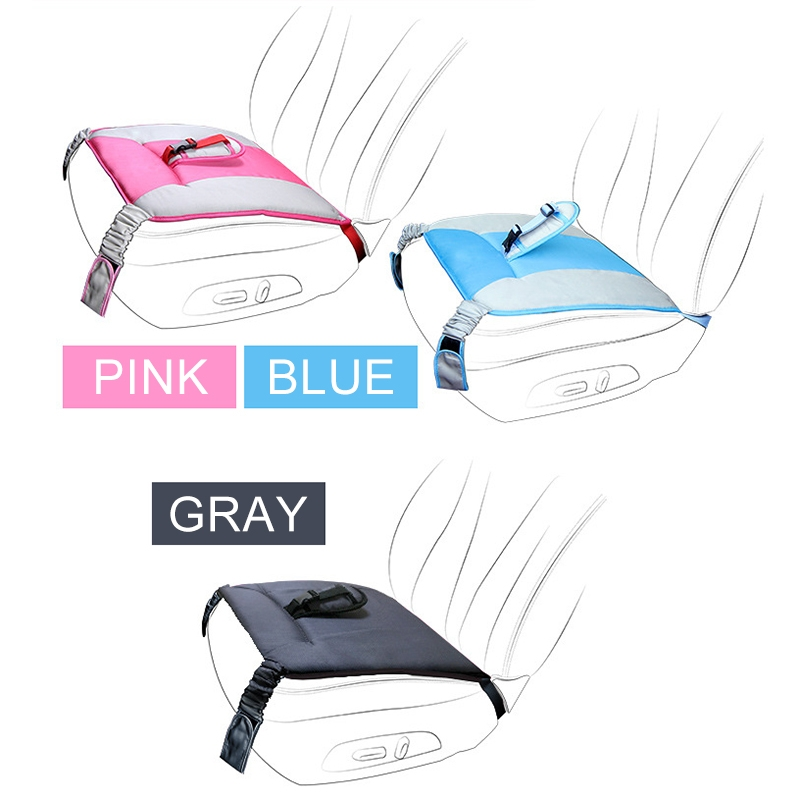 Car Safety Seat Protective Pad with Clip Back Abdominal Belt for Pregnant Woman (Pink)