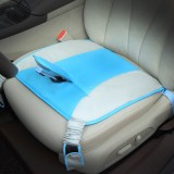 Car Safety Seat Protective Pad with Clip Back Abdominal Belt for Pregnant Woman (Sky Blue)