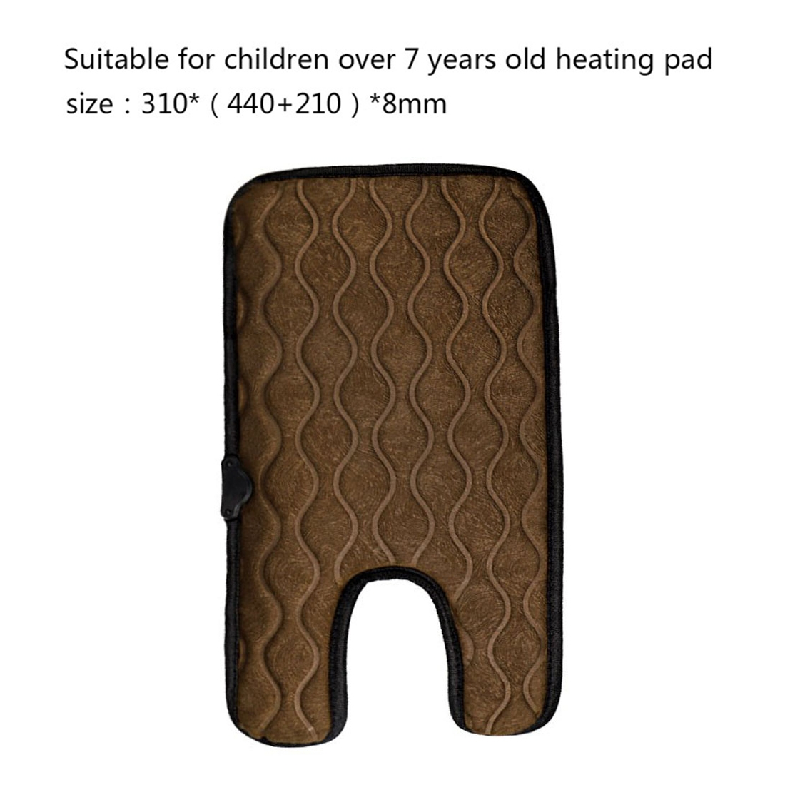 Universal Baby Car Cigarette Lighter Plug Seat Cover Warm Seat Heating Baby Electric Seat Heating Pad, Size: 310x (440+210)x8mm (Brown)