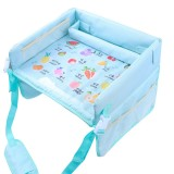 Children Waterproof Dining Table Toy Organizer Baby Safety Tray Tourist Painting Holder (Funny Fruit)