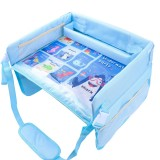 Children Waterproof Dining Table Toy Organizer Baby Safety Tray Tourist Painting Holder (Ocean World)