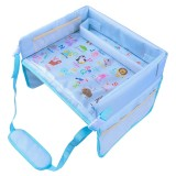 Children Waterproof Dining Table Toy Organizer Baby Safety Tray Tourist Painting Holder (Animal World)
