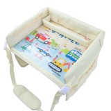 Children Waterproof Dining Table Toy Organizer Baby Safety Tray Tourist Painting Holder (Car Family)