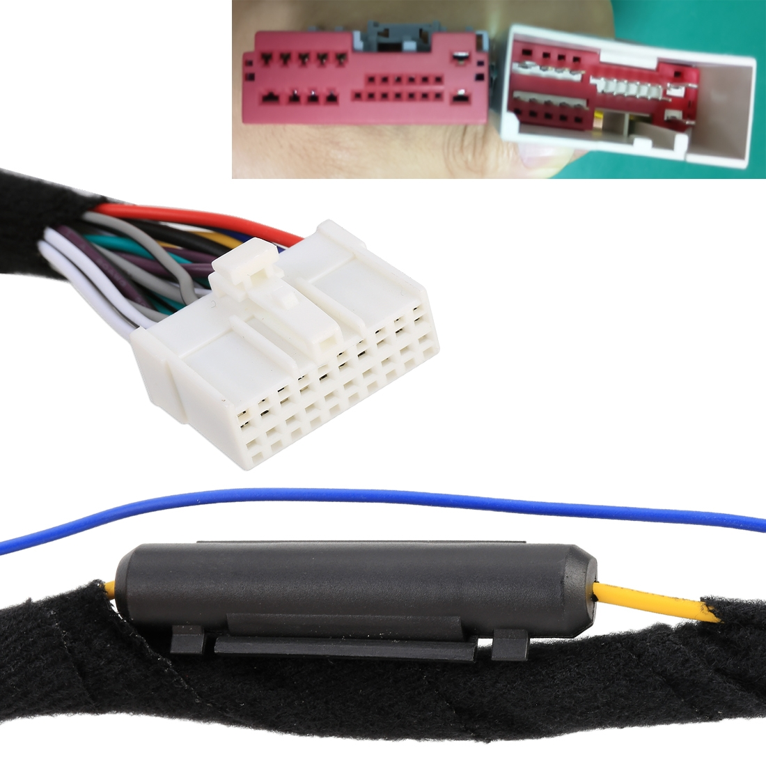AXCTC For Buick No.59 DSP-3.0 Stereo Audio Amplifier Car Audio DSP Processor with Extension Cable Wiring Harness