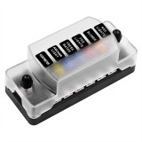 ZH-978A1 FB1901 1 In 6 Out 6 Ways Independent Positive Negative Fuse Box with 12 Fuses for Auto Car Truck Boat