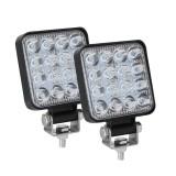 D0038 11.2W 10-30V DC 6000K 3 inch 16 LEDs Square Offroad Truck Car Driving Light Work Light Spotlight Fog Light