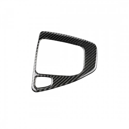 Carbon Fiber Car Left Driving Gear Panel Decorative Sticker for BMW E90 / E92 2005-2012, Sutible for Left Driving