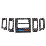 5 PCS Low Matching Three Color Carbon Fiber Car Air Outlet Decorative Sticker for BMW E90 / E92 / E93 2005-2012