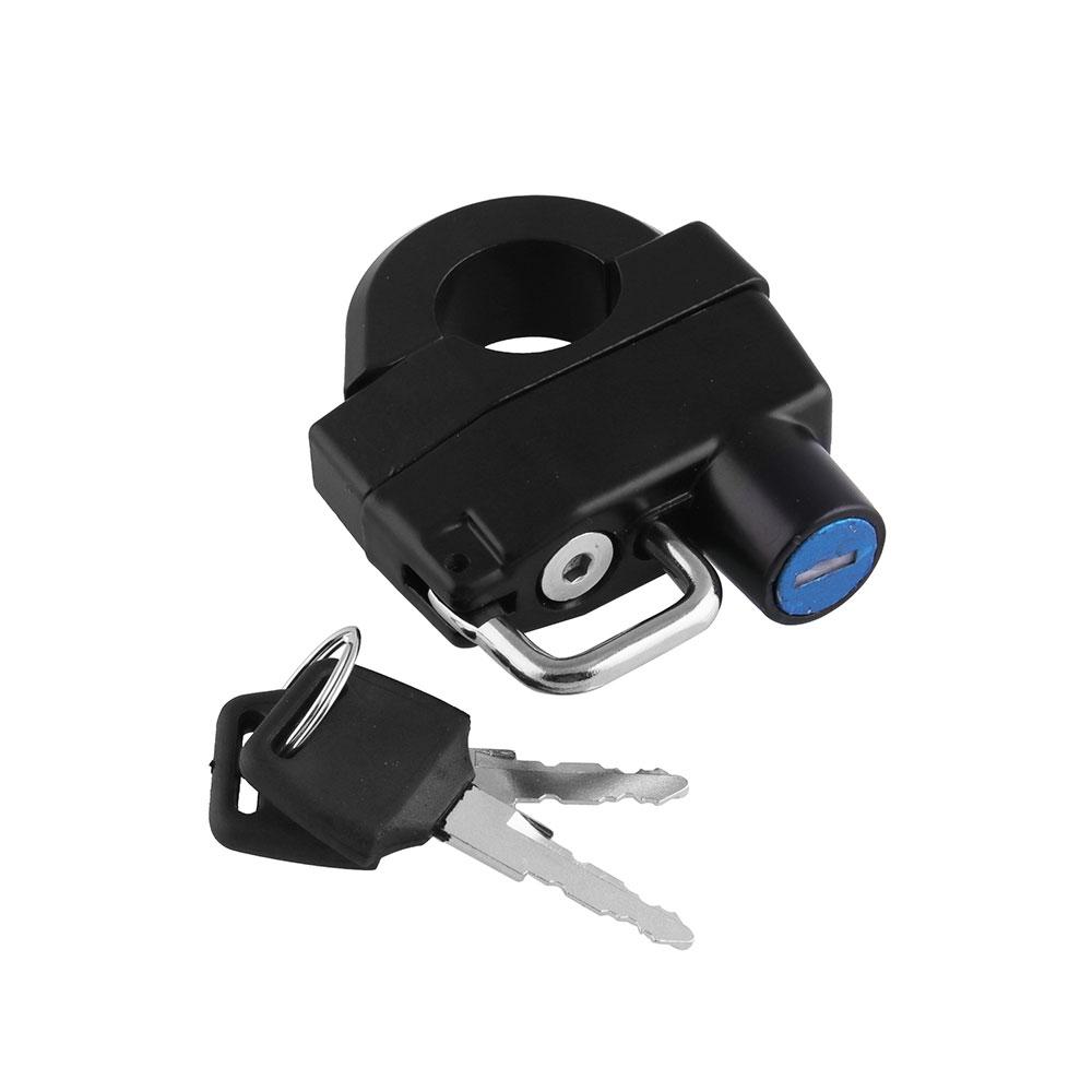 MB-HL021-BK Motorcycle Handlebars Helmet Lock Key Padlock for Harley-Davidson XL