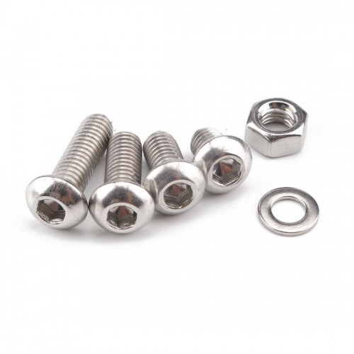 520 PCS 304 Stainless Steel Screws and Nuts Hex Socket Head Cap Screws Gasket Wrench Assortment Set Kit