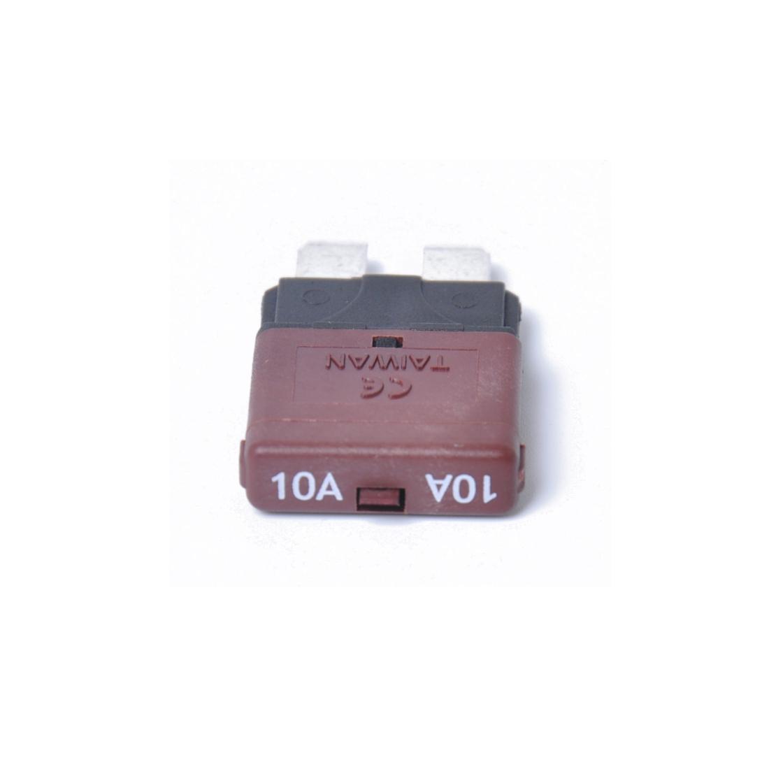 10AMP DC28V Circuit Breaker Trip Fuses Standard Blade Fuse Manual Reset