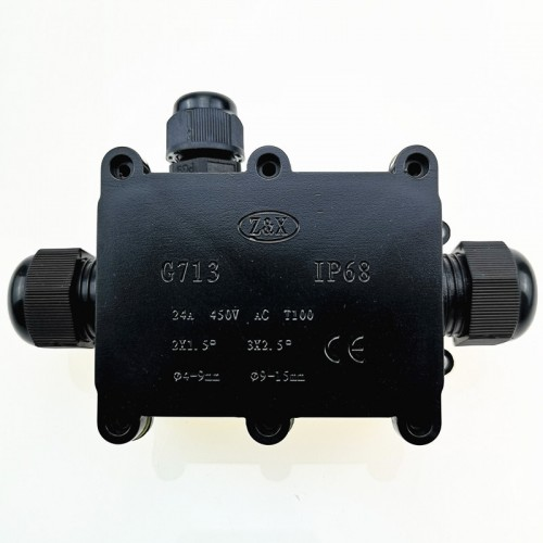 G713 IP68 Waterproof Three-way Junction Box for Protecting Circuit Board