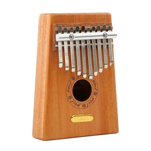 Thumb Piano Kalimba 10-tone Finger Piano Beginners Entry Portable Musical Instrument Kalimba Finger Piano (Wood color)