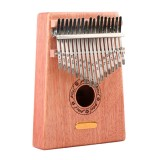 Thumb Piano Kalimba 17-tone Finger Piano Beginners Entry Portable Musical Instrument Kalimba Finger Piano (Wood Color)