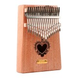 Thumb Piano Kalimba 17-tone Finger Piano Beginners Entry Portable Musical Instrument Kalimba Finger Piano (Heart Shaped Hole)