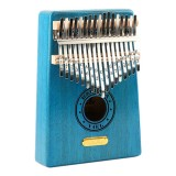 Thumb Piano Kalimba 17-tone Finger Piano Beginners Entry Portable Musical Instrument Kalimba Finger Piano (Sky Blue)