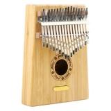 Thumb Piano Kalimba 17-tone Finger Piano Beginners Entry Portable Musical Instrument Kalimba Finger Piano (Golden Bamboo)