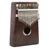 Thumb Piano Kalimba 17-tone Finger Piano Beginners Entry Portable Musical Instrument Kalimba Finger Piano (Retro Color)