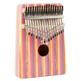 Thumb Piano Kalimba 17-tone Finger Piano Beginners Entry Portable Musical Instrument Kalimba Finger Piano (Red Color Bamboo)