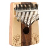Thumb Piano Kalimba 17-tone Finger Piano Beginners Entry Portable Musical Instrument Kalimba Finger Piano (Four-leaf Clover)