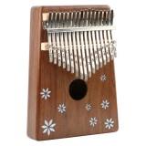 Thumb Piano Kalimba 17-tone Finger Piano Beginners Entry Portable Musical Instrument Kalimba Finger Piano (Seven-leaf Flower)