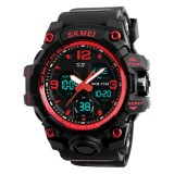 SKMEI 1155B Multifunctional Men Outdoor Sports Noctilucent Waterproof Large Dial Wrist Watch (Red)