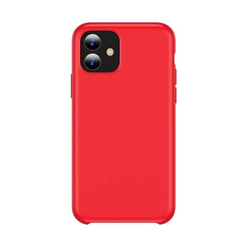 For iPhone 11 TOTUDESIGN Liquid Silicone Dropproof Coverage Case (Red)