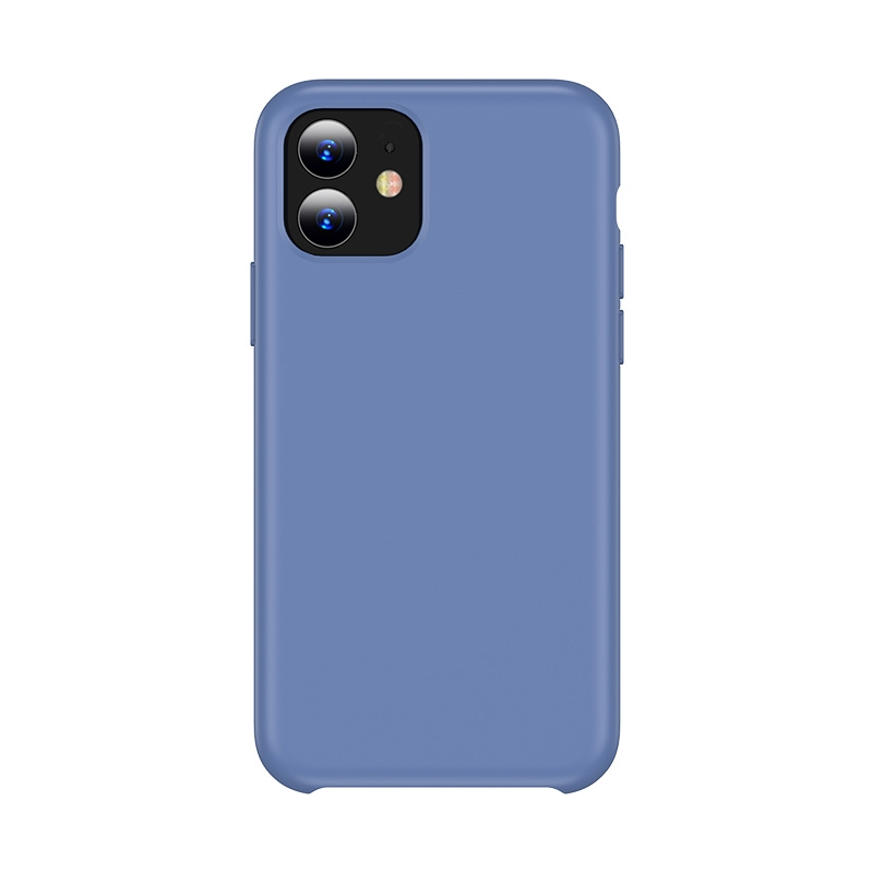 For iPhone 11 TOTUDESIGN Liquid Silicone Dropproof Coverage Case (Blue)