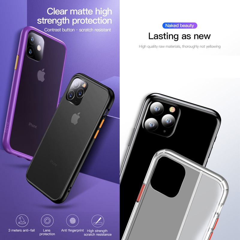 For iPhone 11 Pro TOTUDESIGN Gingle Series Shockproof TPU+PC Case (Transparent)