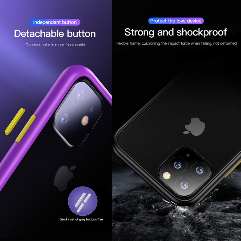 For iPhone 11 Pro Max TOTUDESIGN Gingle Series Shockproof TPU+PC Case (Transparent)