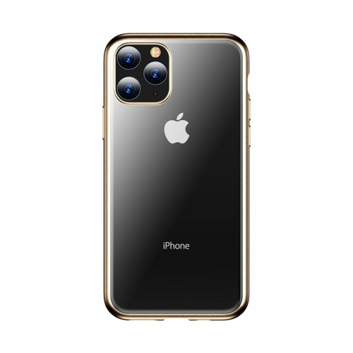For iPhone 11 Pro Max TOTUDESIGN Concise Series Shockproof Electroplating TPU Protective Case (Gold)