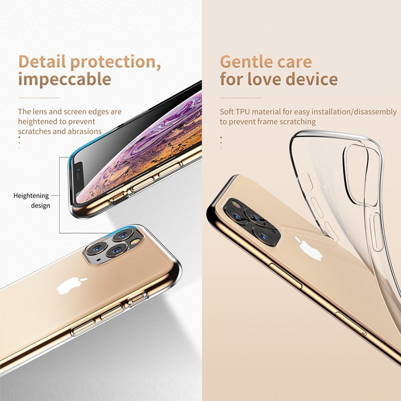 For iPhone 11 Pro TOTUDESIGN Shockproof Transparent TPU Protective Case