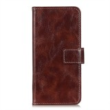 For Xiaomi Redmi Note 8 Pro Retro Crazy Horse Texture Horizontal Flip Leather Case with Holder & Card Slots & Wallet & Photo Frame (Brown)