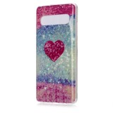 For Galaxy S10 5G Coloured Drawing Pattern IMD Workmanship Soft TPU Protective Case (Red Heart)