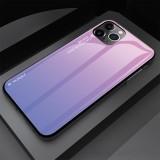 For iPhone 11 Gradient Color Glass Case (Light Purple)