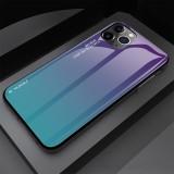 For iPhone 11 Gradient Color Glass Case (Dark Purple)