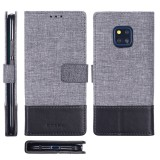 For Huawei Mate 20 Pro MUXMA MX102 Horizontal Flip Canvas Leather Case with Stand & Card Slot & Wallet Function (Black)