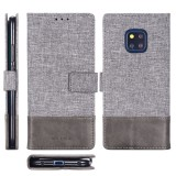 For Huawei Mate 20 Pro MUXMA MX102 Horizontal Flip Canvas Leather Case with Stand & Card Slot & Wallet Function (Grey)