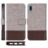 For Huawei Y6 Pro (2019) MUXMA MX102 Horizontal Flip Canvas Leather Case with Stand & Card Slot & Wallet Function (Brown)